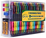 June Gold 72 Mechanical Pencils, 0.9 mm HB #2 Lead, 2 Lead Dispensers /w 160 Refills & 16 Refill Erasers, Convenient Side Click & Soft Non-Slip Grip
