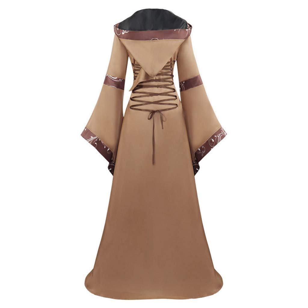 Peigen Maxi Dresses for Women,Women's Vintage Celtic Medieval Floor Length Renaissance Gothic Cosplay Dress by Peigen