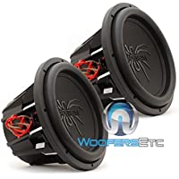 Pair of Soundstream T5.124 12 1000W RMS 2000W Max (Each) Dual 4-Ohm Subwoofers