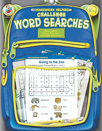 Challenge Word Searches, Grades K - 1 (Homework Helper): Frank ...