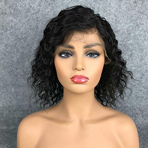 Short Full Lace Human Hair Wigs With Baby Hair For Blace Women Pre Plucked Hairline Brazilian Virgin Lace Front Human Hair Wigs 8''-16'' Loose Curly Hair Natural Color (Lace Front Wig 8) by Berimy (Image #6)