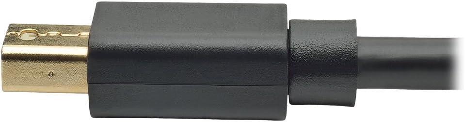 M//M Tripp Lite Mini DisplayPort to DisplayPort Cable 4K x 2K @ 60Hz P583-003 3-ft 4096 x 2160 Including 1080p,
