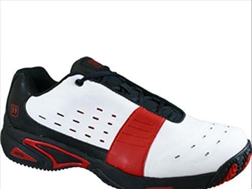 Wilson Tour Fanton Jr, Zapatillas Niños, Blanco (Bco/Negro /Rojo), 34.5 EU: Amazon.es: Zapatos y complementos