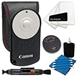 Canon Original RC-6 Wireless Remote Control For Canon Rebel SL1 T3i T4i T5i T6i T6s EOS 60D 70D 6D 7D 7D Mark II 5D Mark III With Camera & Lens Cleaning Kit + 2 in 1 Lens Cleaning Pen and More Accessory Bundle