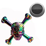 ZEZI Metal Playful Fidget Devil Spinner Toys for Hand Colorful Skull