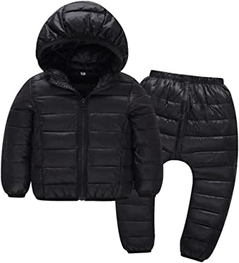 AIEOE Baby Windproof Down Pants Toddler Puffer Trousers Kids Winter Ski Pants