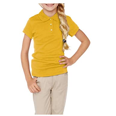 8d9e87c747 Amazon.com: George Girls' School Uniforms Short Sleeve Polo Shirt: Clothing
