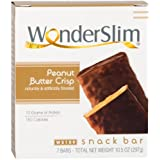 WonderSlim High Protein Snack Bar/Diet Bars - Peanut Butter Crisp (7ct) - Trans Fat Free, Aspartame Free, Kosher, Cholesterol Free