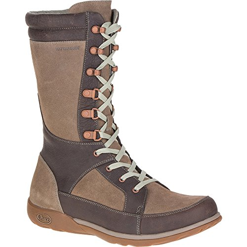 Chaco Women's Lodge Waterproof-W Hiking Boot, Fossil, 7.5 M US by Chaco