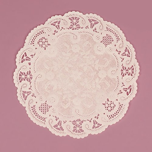 6 Inch Round White French Lace Paper Doilies 1000 Count by PEPPERLONELY