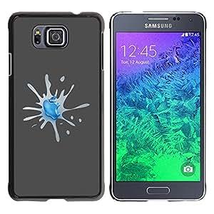 Planetar® ( Apple Splash ) Samsung GALAXY ALPHA G850 Fundas Cover Cubre Hard Case Cover