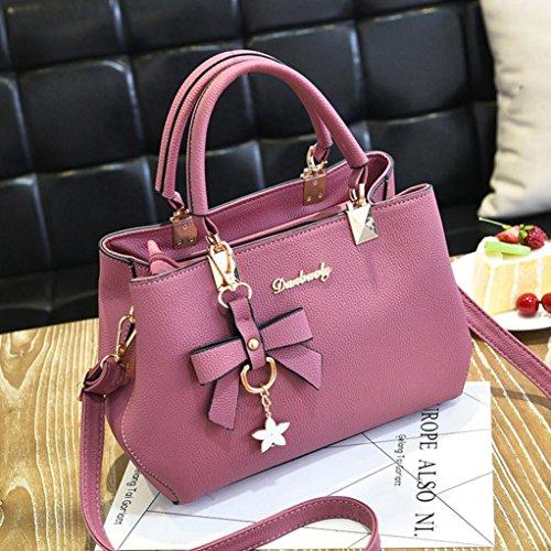 Sonnena Pink Messenger Leather Crossbody Shoulder Handbag Satchel Women Bag Shoulder HHFzxfw