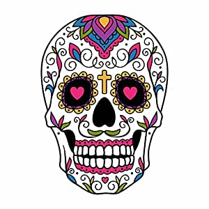 Amazon Com Sugar Skull Dia De Los Muertos Full Color