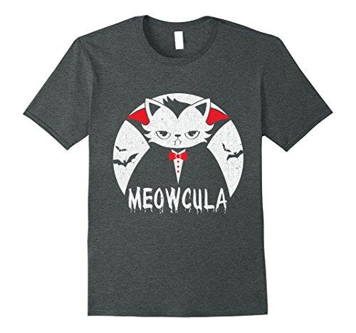 Mens Meowcula Vampire Cat Halloween Kids T-Shirt Large Dark (Vampire Cat Costume For People)