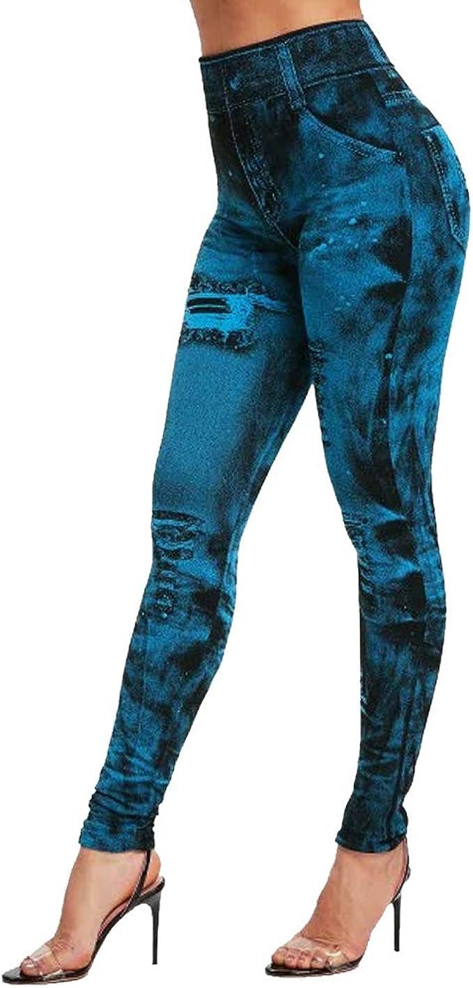 Damen Leggings Damen Slim Dehnbar Lang Damen Jeans Look Jeggings Herbst Neu
