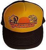 Montana Bear Buffalo Mesh Trucker Hat Cap Snapback Brown Gold