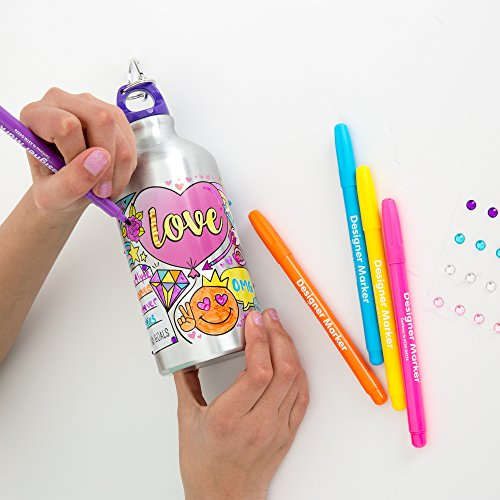 Just My Style Your Decor Color Your Own Water Bottle By Horizon Group Usa, DIY Bottle Coloring Craft Kit, BPA Free…
