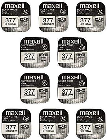 Maxell Sr626sw 377 Batterie Silberoxid 10 Er Pack Elektronik