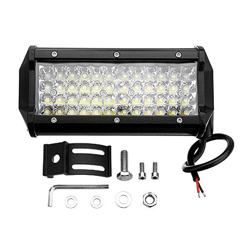 Moonite 4WD Waterproof Work Light 7 Inch 144W 48LED Work Light Bar Spot Beam Driving Fog Lamp Off-Road Tractor
