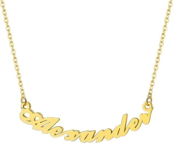 Name Necklace Megan 18K Gold PlatedBridal Valentines Love Girlfriend Love
