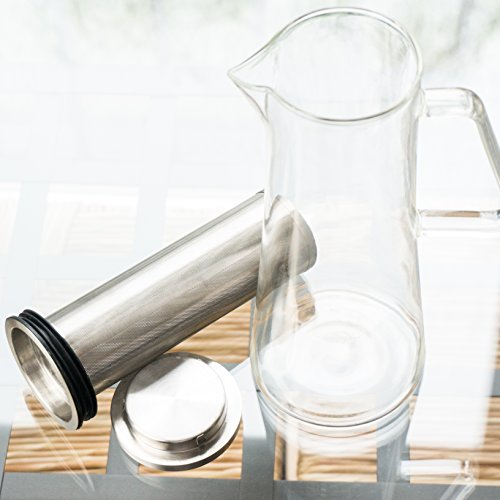 Cold Brew Coffee Maker - Iced Coffee Glass Pitcher 32oz with Sealing Removable Filter by Home and Above (Image #7)