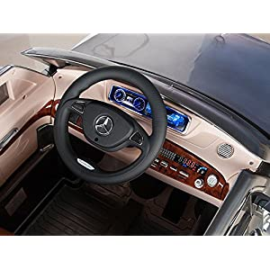 Mercedes-Benz-S600-12V-Kids-Ride-On-Battery-Powered-Wheels-Car-RC-Remote-Silver