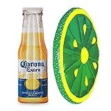 Corona Beer Bottle 68.5' x 22' Inflatable Pool Float Mat + Lime Slice Float
