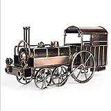 Hynbase Creative Home Office Decor Metal Crafts Retro Iron Steam locomotive