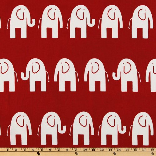 red and white upholstery fabric - 6