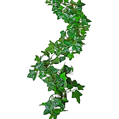 Non Toxic Plastic - Rurality Green Hanging Artificial Vines Indoor or Outdoor Fake Vines Fake Ivy Leaves Garland for Wedding,Shops,Restaurant Decoration,Pack of 2