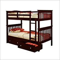 T/T MISSION BUNK BED - DARK CAPPUCINO