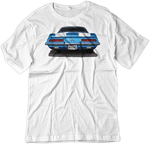 amaro Z28 Classic Car Muscle Hot Rod Shirt XL White (Camaro White Muscle Car T-shirt)