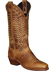 Abilene Womens Textured Bison Western Boot Square Toe - 9227