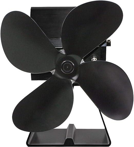 mysticall Ventilador de estufa de leña, ventilador de estufa de 4 palas con alimentación de calor, ventilador de estufa de chimeneas para chimenea de leña: Amazon.es: Hogar