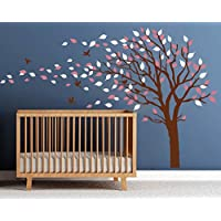 LUCKKYY Tree Blowing in the Wind Tree Wall Decals Wall...