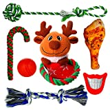 Fairwin Dog Toys, 7 Packs Dog Chew Toys with Rope Toys and Squeaky Toys for Small to Medium Dog