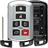 KeylessOption Keyless Entry Remote Control Key Fob Case Shell Button Pad Outer Cover Housing for Sienna HYQ14ADR
