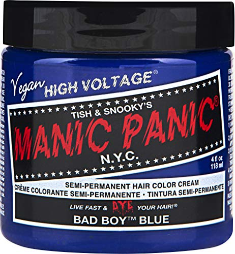 Tub Collection Exposed (Manic Panic Semi-permanent Hair Color Cream, Bad Boy Blue)