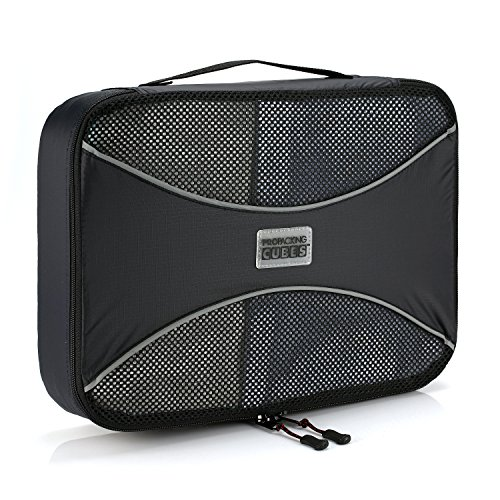 Pro Packing Cubes | MEDIUM Travel Packing Cube |Ultra Lightweight Luggage Organizer for Travel | Featuring Durable Rip-Stop Nylon and Reliable YKK Zippers (Black)