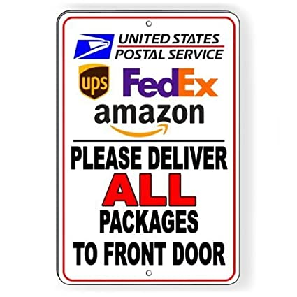 Amazon Deliver All Packages To Front Door Delivery