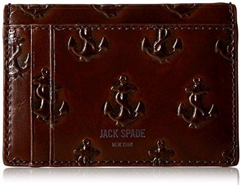 Embossed Spade Men's Men's Chocolate Spade Wallet ID Jack Jack Anchor 154nqfX