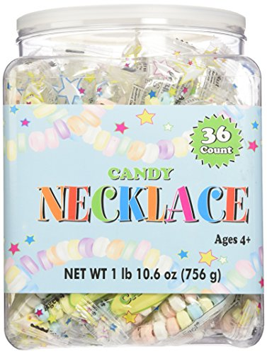 CANDY NECKLACE 36 count Tub,net wt 1 lb(10.6 - Stretchable Necklaces Candy