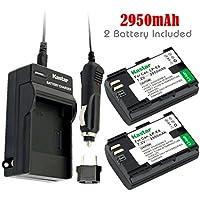 Kastar Battery (2-Pack) and Charger for Canon LP-E6, LC-E6 and EOS 60D, EOS 70D, EOS 5D II, EOS 5D III, EOS 5DS, EOS 5DS R, EOS 6D, EOS 7D Cameras, BG-E14, BG-E13, BG-E11, BG-E9, BG-E7, BG-E6 Grips