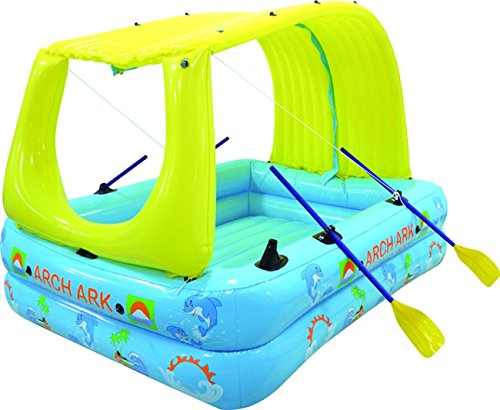 Arch Ark- 10-in-1 Inflatable raft+boat+pool+waterslide+ma...