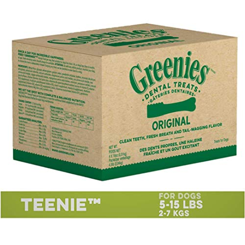 GREENIES Original TEENIE Dental Natural Dog Treats, 72 oz. Pack (260 Treats)