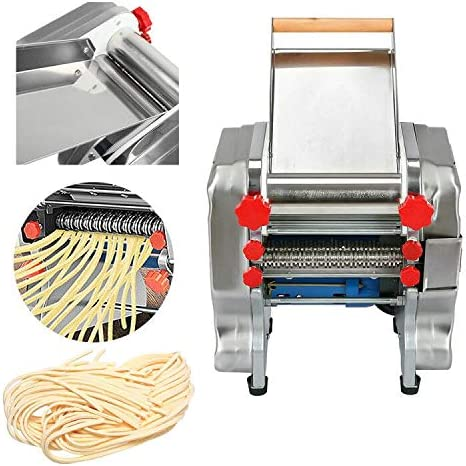 Shikha Electric Pasta Press Maker Noodle Machine with Stainless Steel Noodle Dough Roller for Commercial Home 110V 180mm