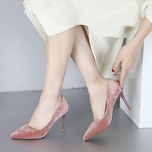 Donna On Taglie Scarpe Ufficio Stiletto Sandali Bassi Cy Pink Da Lavoro Party Scamosciati Slip Décolleté gw4zIE