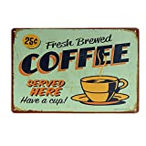 COFFEE Vintage Tin Sign Bar Pub Cafe Wall Decor Retro Metal Art Poster - 02