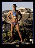 (13x18) Michael Phelps Athens 2004 Standing with Medals Olympics Official Sports Poster