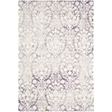 Safavieh Passion Collection PAS403A Lavender and Ivory Distressed Area Rug (3' x 5')